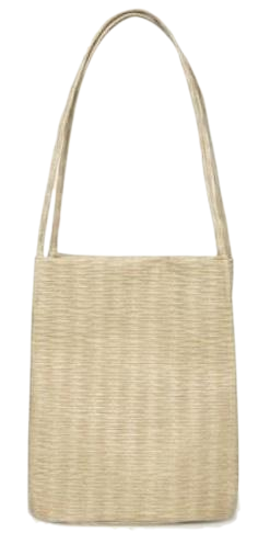 plain weave shoulder bag (2 colors)