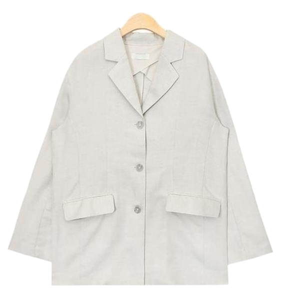 classy rayon 3 button jacket (2 colors)