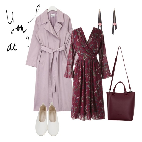 you had me,AIN FRESH A basic trench coat (4 colors),From Beginning Grow color flat shoes_H (size : 230,235,240,245,250)등을 매치한 코디