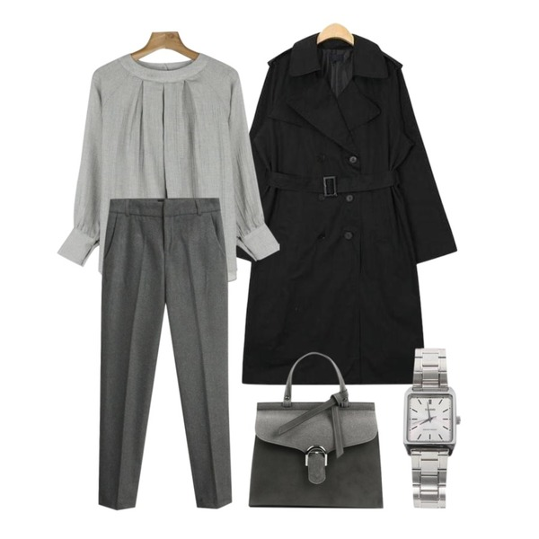biznshoe CASIO MTP-VOO7D-7EUDF [5361],NEW NEED NOW 스테이 토트&숄더백(6color),AIN wide sleeve boxy fit trench coat (2 colors)등을 매치한 코디