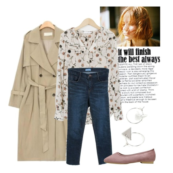 Untitled,AIN spring side slit trench coat (2 colors),ㅇ등을 매치한 코디