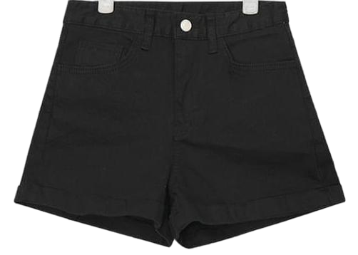 roll-up detail basic short pants (2 colors)