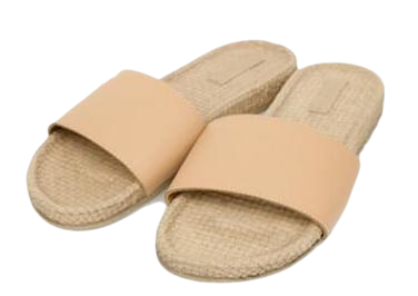 simple straw slipper (6 colors)