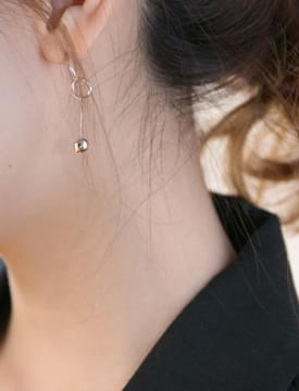 Silver bell earring_H (size : one)
