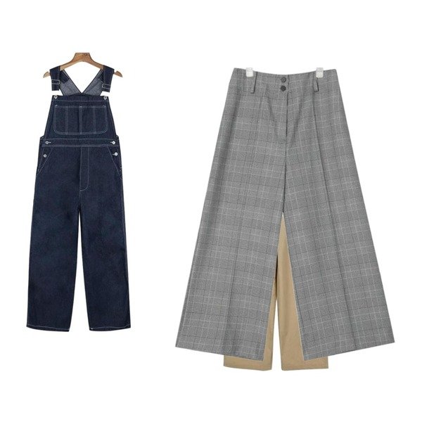 AIN point 2-button wide pants (3 colors),daily monday Casual cotton overalls,daily monday Casual cotton overalls등을 매치한 코디