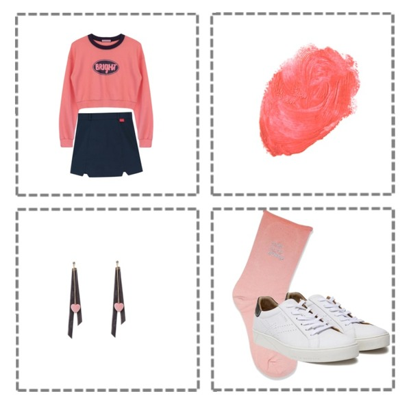 frame,HATISS Broome Rebecca White sneakers,MIXXMIX Little boy Pink등을 매치한 코디