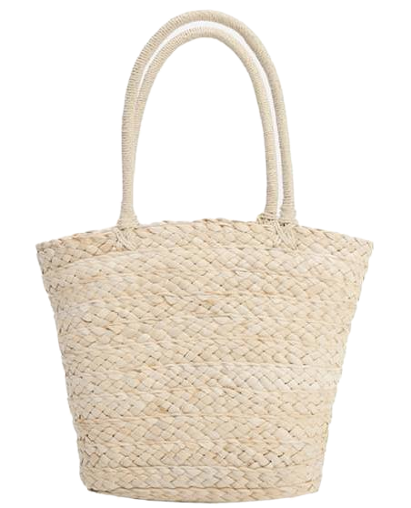 Vacance straw tote bag_H (size : one)