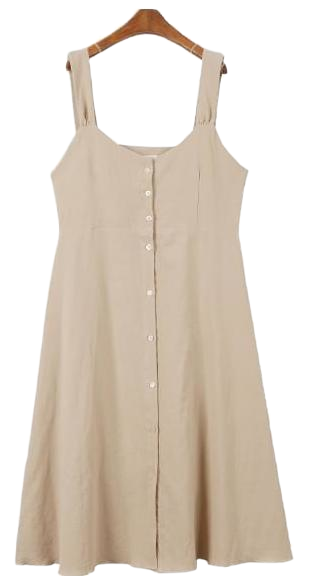 Picnic linen string dress