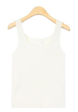 mild square neckline sleeveless (5 colors)