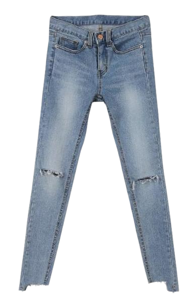 Kai incision skinny jeans