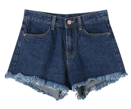 All Ralph Cutting Denim Short Pants