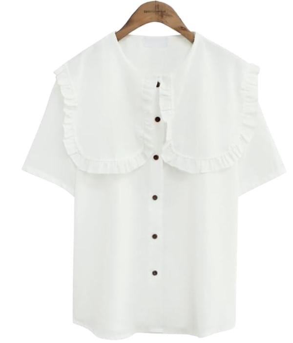 SUMMER FRILL SAILOR BLOUSE