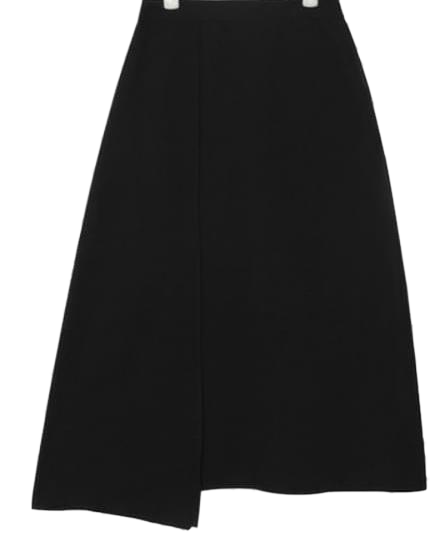 unblance slit detail skirt (2 colors)