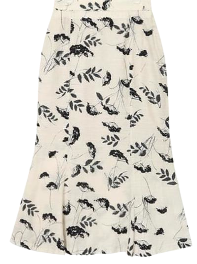 clare flower mermaid skirt