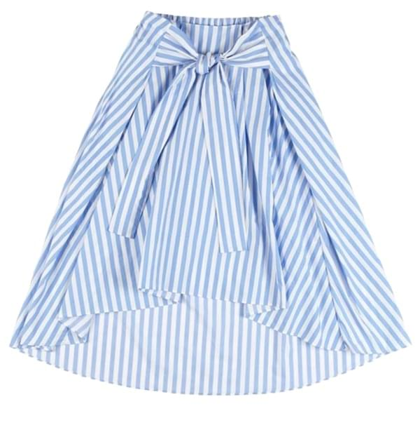 Stripe Skirt SKY BLUE