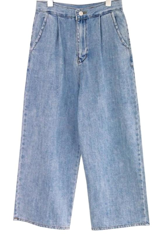 HIGH WAIST WIDE DENIM PANTS