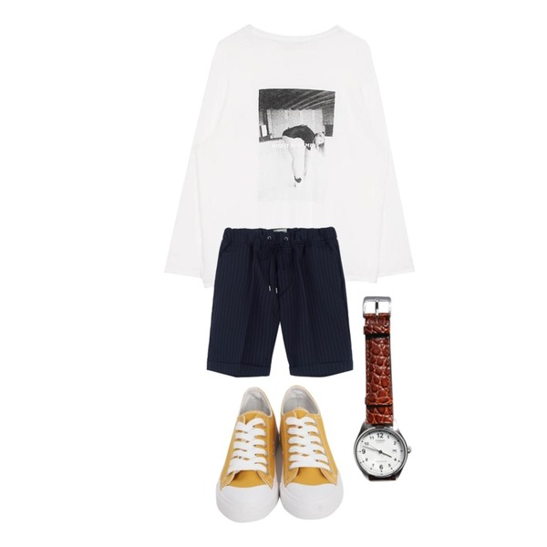 MIXXMIX 밴딩 메드뷰 숏츠,From Beginning Purcell cotton sneakers_M (size : 230,235,240,245,250),biznshoe Swimming tee (2color)등을 매치한 코디