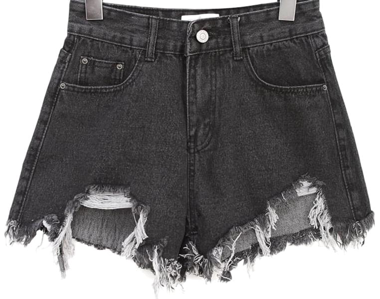 MAVEL DAMAGE DENIM SHORTS