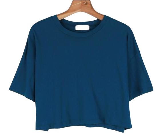 Basic crop color tee