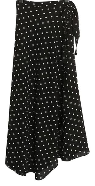dot flare long skirt