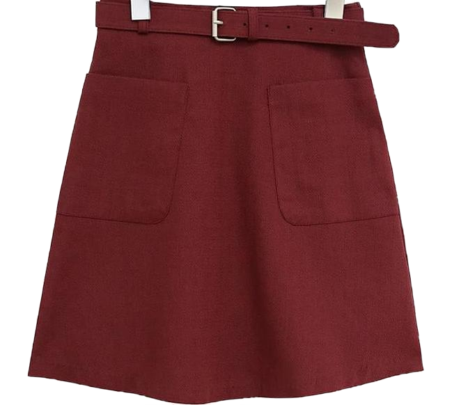 MADALYN BELT SET A LINE SKIRT