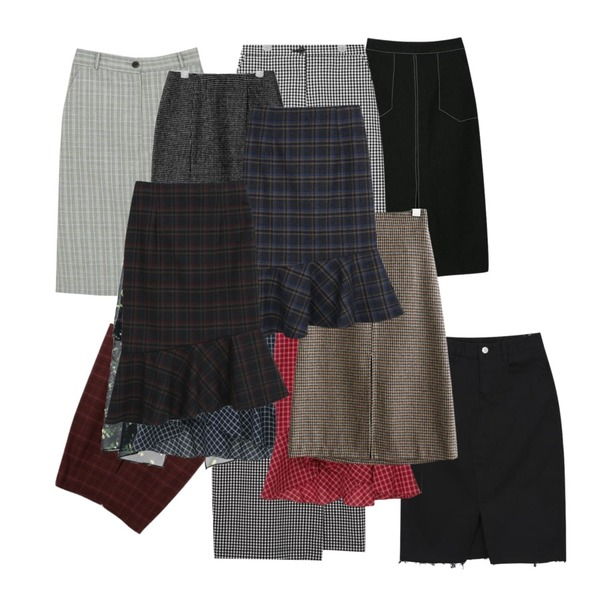 biznshoe A line check skirt (2color),myblin 스티치 린넨 롱 스커트 (4color),From Beginning Gingham check banding skirt_K(size : free)등을 매치한 코디
