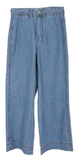 Merlin-wide denim pants