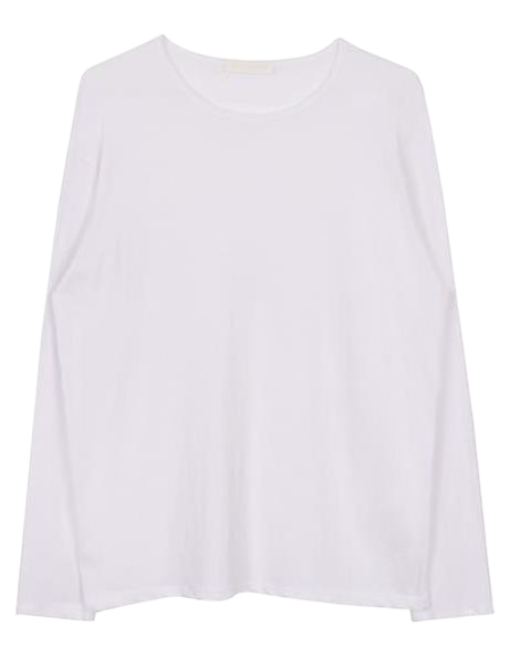 Round cotton tee (5color)