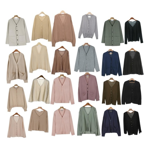 Zemma World Pepper-티셔츠&가디건 (린넨55%)[size:44~66 / 4color],From Beginning Pause linen basic cardigan_S (size : free),From Beginning Lucid basic cardigan_H (size : free)[16일 입고 후 순차적배송등을 매치한 코디