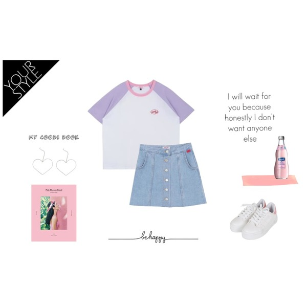 33,MIXXMIX Heart logo raglan,MIXXMIX Heart damage button skirt등을 매치한 코디