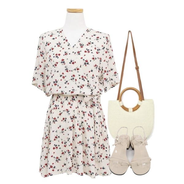 AIN wood handle basket bag (2 colors),From Beginning Hitch rope sandal_H (size : 225,230,235,240,245),common unique [OPS] FLORAL WRAP RIBBON BANDING OPS등을 매치한 코디