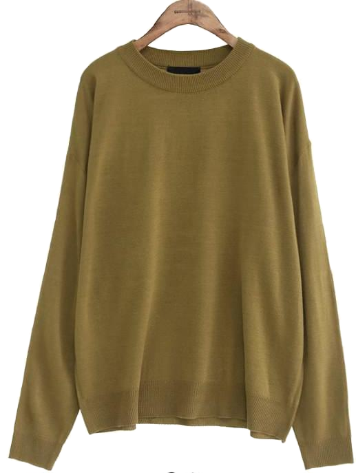 DEEP COLOR ROUND NECK KNIT