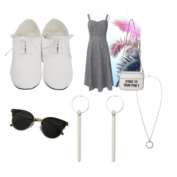 illusion,common unique [OPS] LINEN VOLUME BUSTIER LONG OPS,From Beginning Boundary oxford loafer_K (size : 225,230,235,240,245,250)등을 매치한 코디