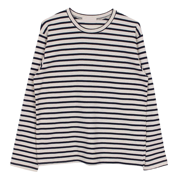 Round stripe tee (3color)