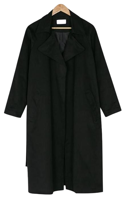 big collar robe trench coat