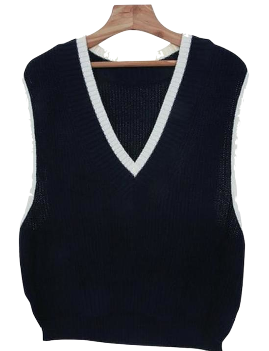 Kylie-knitted vest