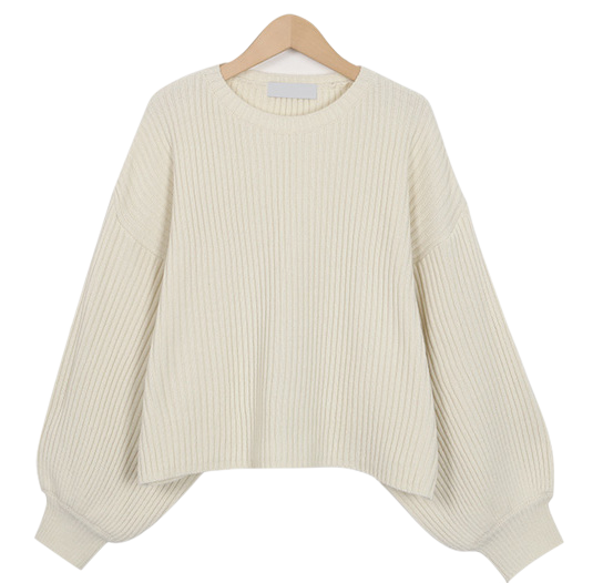 Powder balloon knit_K (size : free)