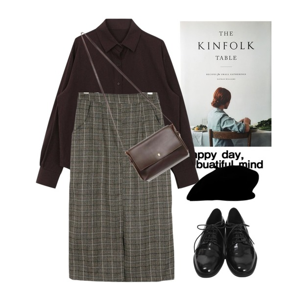 Untitled,kinfolk table,biznshoe Autumn color shirts (6color)등을 매치한 코디