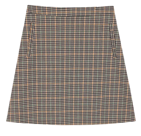 Mini check skirt (2color)
