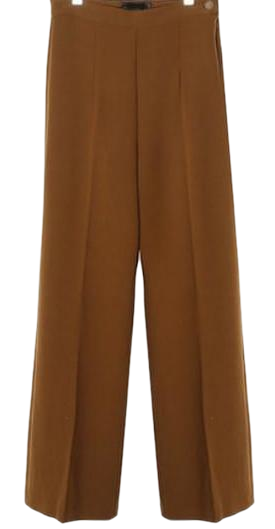 pintuck long straight slacks