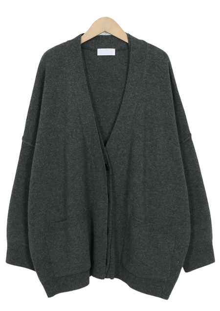 Butter bulky wool cardigan_S (size : free)