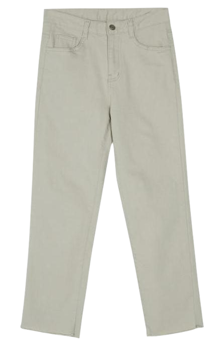 gentle cutting straight pants