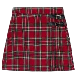 Lonely Buckle Check Skirt