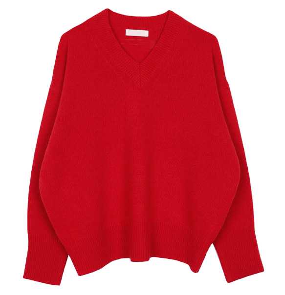 V-neck wool knit (3color)