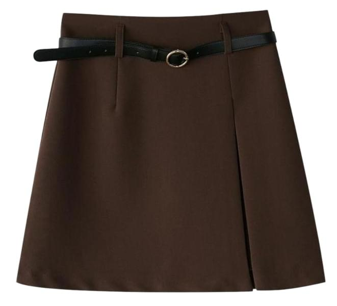 unbalance slit belt skirt