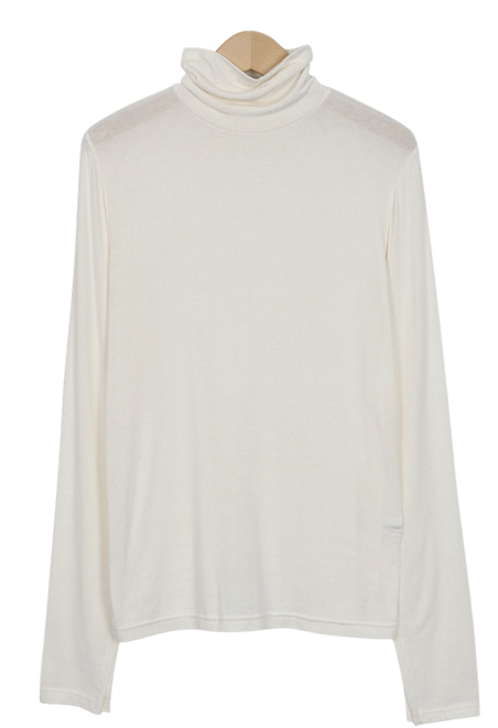 Slit sleeve turtle neck T_S (size : free)