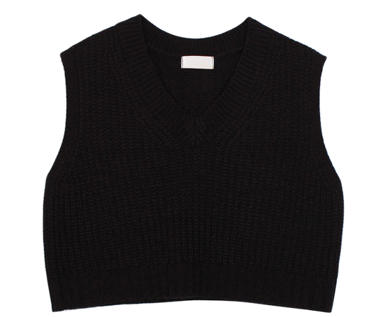 Crop knit vest (3color)