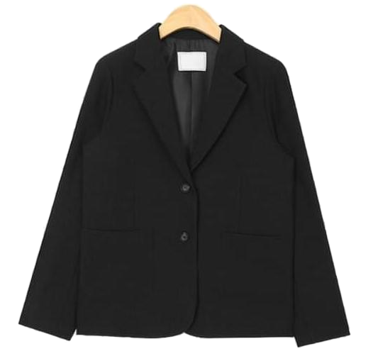 two button line simple jacket