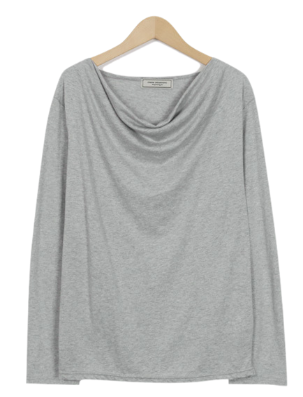 Made_top-191_wrinkle boat neck T (size : free)