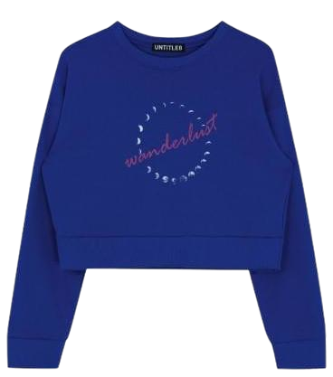 Wonderlust Crop Sweat Shirt